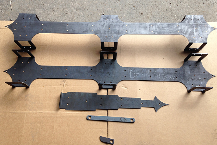 LASER CUT AND FORMED GATE HINGES